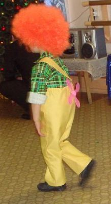 Новогодний костюм для мальчика карлсон своими руками