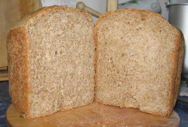 Хлеб пшеничный с отрубями (хлебопечка)