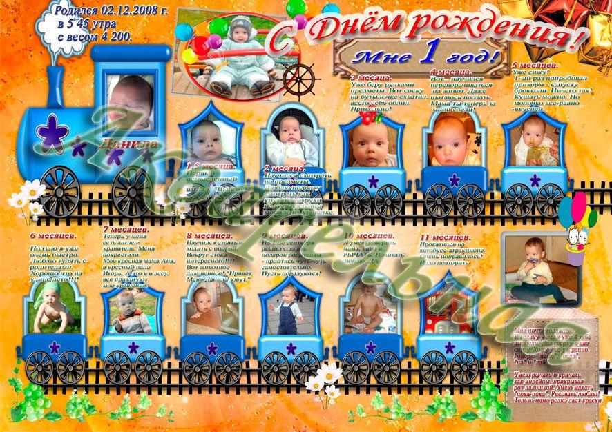Плакат на один годик ребенку своими руками