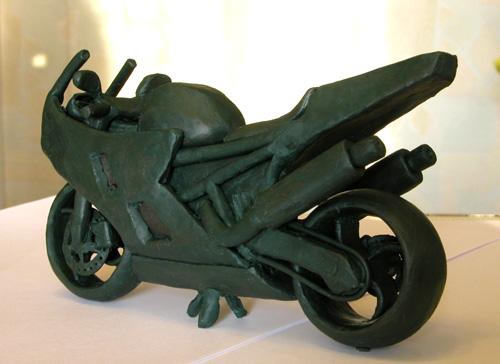 Как сделать из пластилина мотоцикла