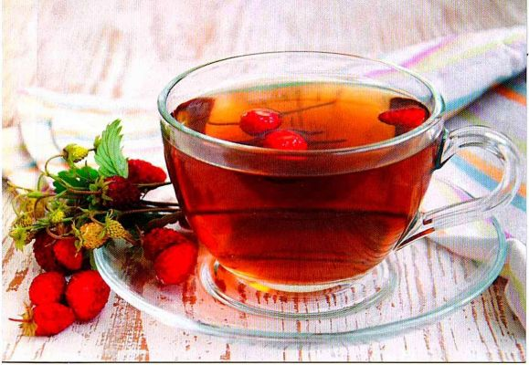 Земляничный чай для