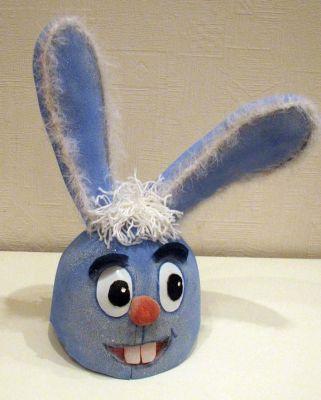 Как сделать маску зайца из поролона
